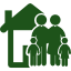 familias apoyadas para obtener una vivienda.
